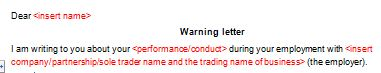 Looking for a final written warning letter template to use for an ...
